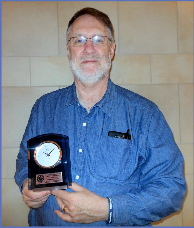 Chris Cremean receives the Annual Family Readiness Award